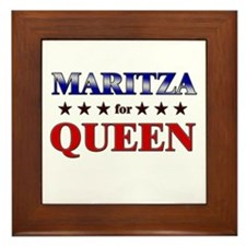 MARITZA for queen Framed Tile