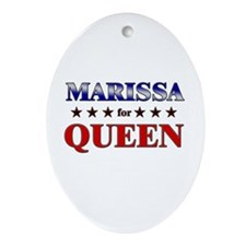 MARISSA for queen Oval Ornament