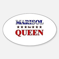 MARISOL for queen Oval Decal