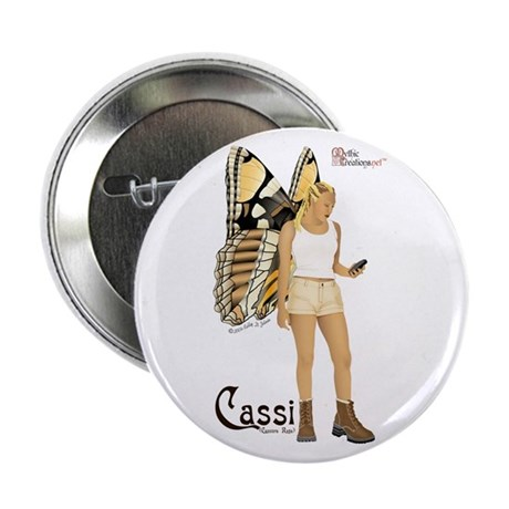 """Cassi the geocaching fairy 2.25"""" Button (10 pack)"""