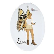 Cassi the geocaching fairy Keepsake (Oval)