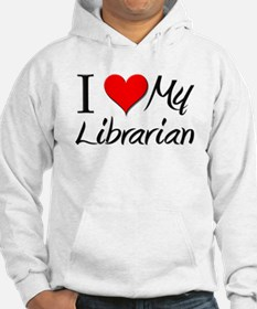 I Heart My Librarian Hoodie