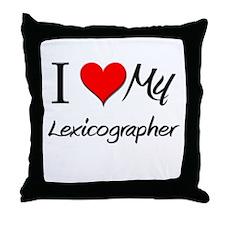 I Heart My Lexicographer Throw Pillow