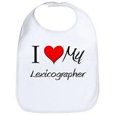 I Heart My Lexicographer Bib