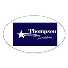 Fred Thompson president Oval Decal