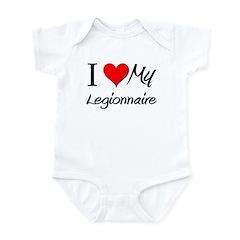 I Heart My Legionnaire Infant Bodysuit