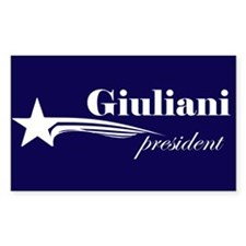 Rudy Giuliani president Rectangle Decal