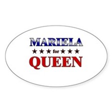 MARIELA for queen Oval Decal
