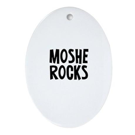 Moshe Rocks Oval Ornament