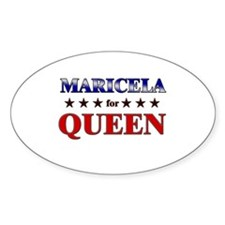 MARICELA for queen Oval Decal