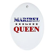 MARIBEL for queen Oval Ornament