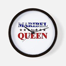MARIBEL for queen Wall Clock