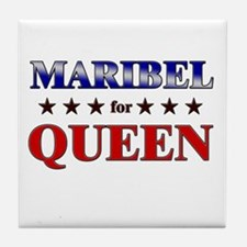MARIBEL for queen Tile Coaster