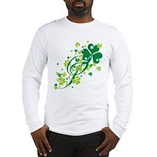 Shamrocks and Swirls Long Sleeve T-Shirt