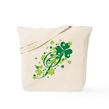 Shamrocks and Swirls Tote Bag
