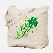 Shamrocks and Swirls Tote Bag