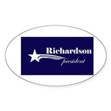 Bill Richardson president Oval Decal
