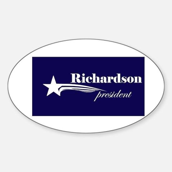 Bill Richardson president Oval Decal