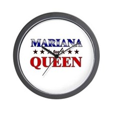 MARIANA for queen Wall Clock