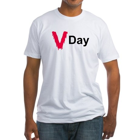 Bloody V Day Fitted T-Shirt