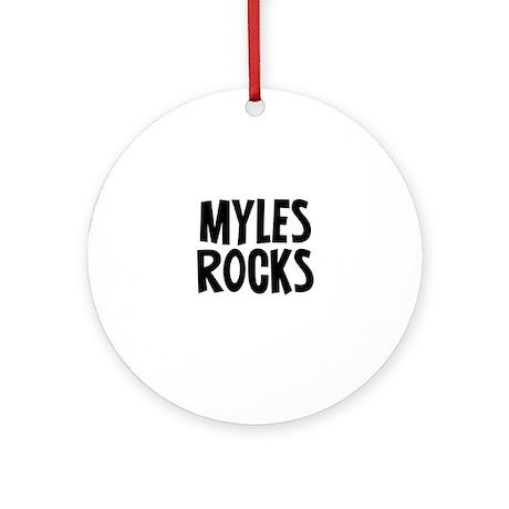 Myles Rocks Ornament (Round)