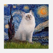 Starry Night / Ragdoll Tile Coaster
