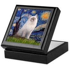 Starry Night / Ragdoll Keepsake Box