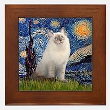 Starry Night / Ragdoll Framed Tile