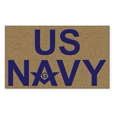 US NAVY Masonic Rectangle Decal