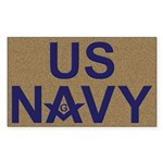 US NAVY Masonic Rectangle Sticker