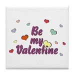Be My Valentine Tile Coaster