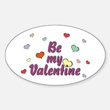 Be My Valentine Oval Decal
