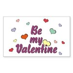 Be My Valentine Rectangle Sticker
