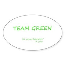 Team Green Oval Bumper Stickers