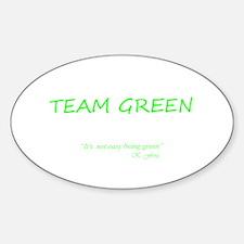 Team Green Oval Bumper Stickers