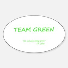 Team Green Oval Decal