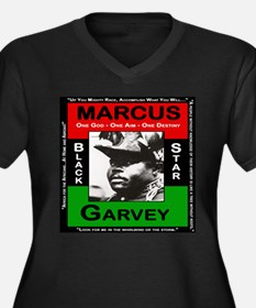 Marcus Garvey Women's Plus Size V-Neck Dark T-Shir