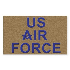 US Air Force Mason Rectangle Decal