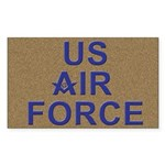 US Air Force Mason Rectangle Sticker