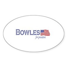 John Taylor Bowles for presid Oval Decal