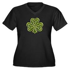 Celtic Trini Women's Plus Size V-Neck Dark T-Shirt
