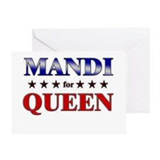 MANDI for queen Greeting Card