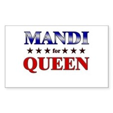 MANDI for queen Rectangle Decal