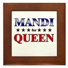 MANDI for queen Framed Tile