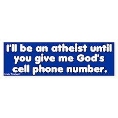God's Cell Phone Bumper Bumper Sticker