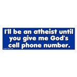 God's Cell Phone Bumper Sticker