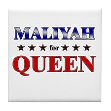 MALIYAH for queen Tile Coaster
