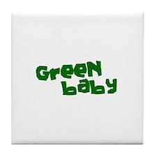 Green Baby Tile Coaster