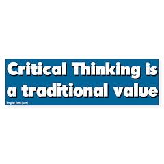 Critical Thinking Bumper Bumper Sticker