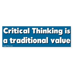 Critical Thinking Bumper Bumper Sticker
